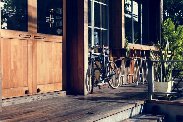en parkeret cykel