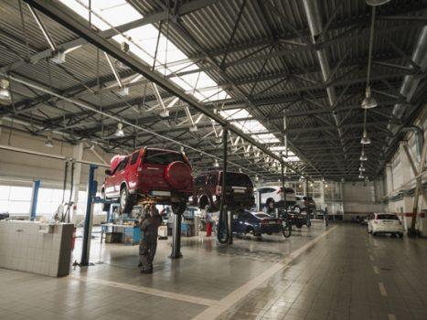Biler til undervognsbehandling